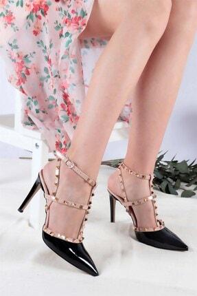 Buffalo Kadın Siyah Sivri Topuklu Ayakkabı