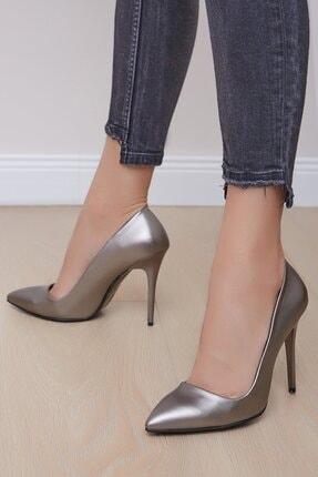 Shoes Time Kadın PlatinTopuklu Ayakkabı 18y 708