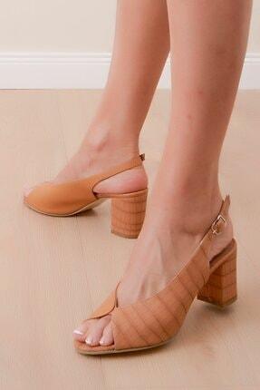 Shoes Time Kadın Kahverengi Topuklu Ayakkabı