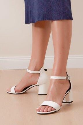 Shoes Time Kadın Beyaz Topuklu Ayakkabı 20y 215