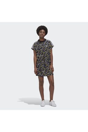 adidas Kadın Siyah Allover Print Elbise