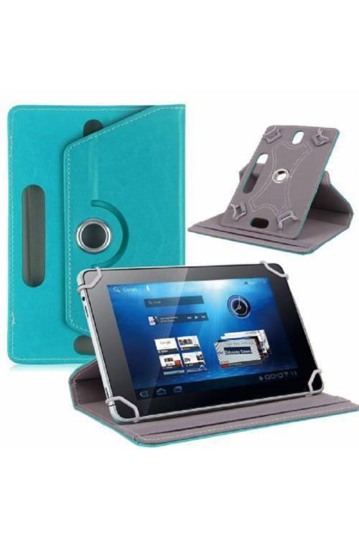 """Aksesuar Fırsatı Samsung Galaxy Tab A P580 10.1"""" Dönebilen Standlı Tablet Kılıfı - Turkuaz 1"""