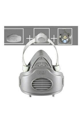 3M 3200 Toz Gaz Maskesi + Filtre Set