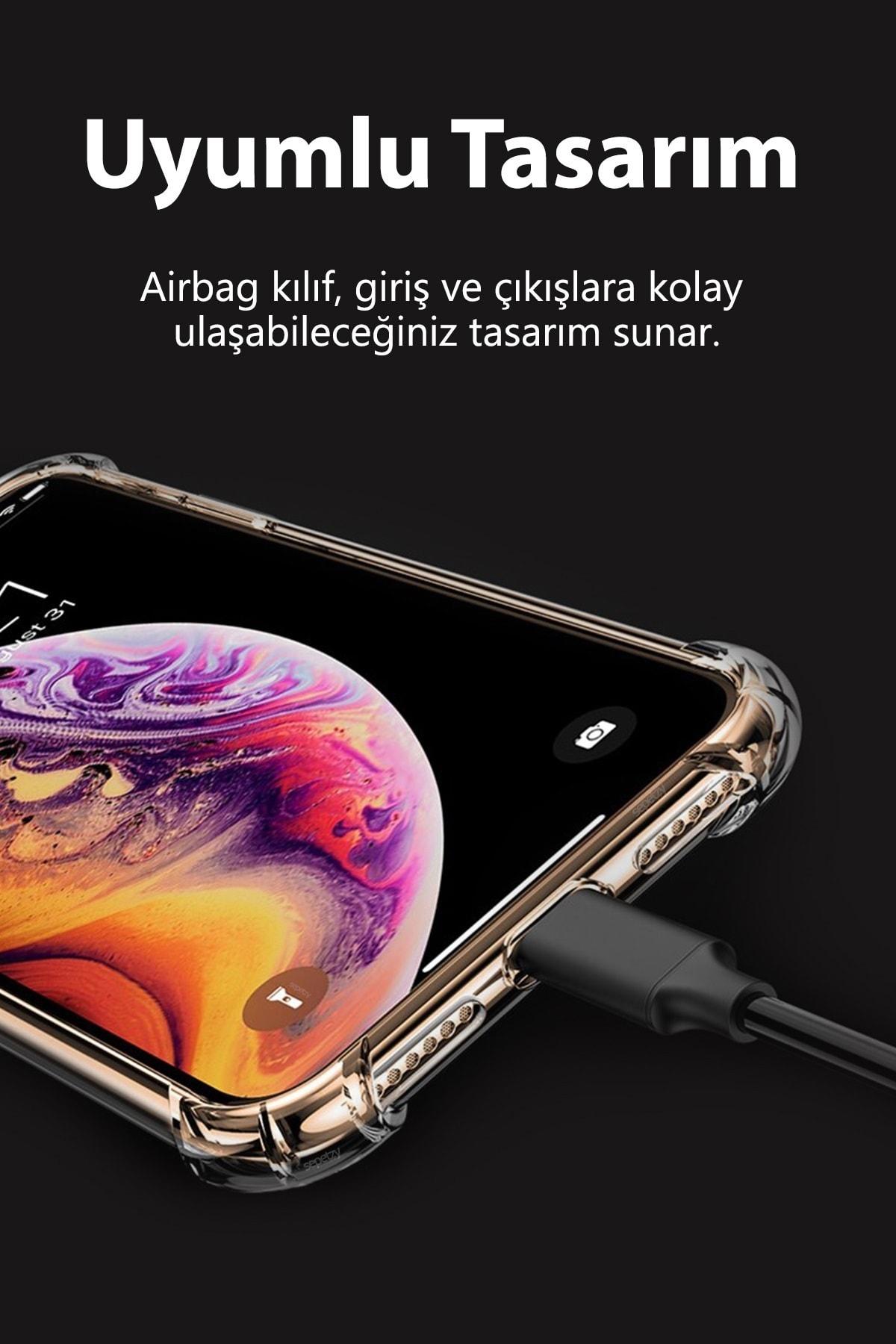 sepetzy Apple Iphone 8 Kılıf Köşe Korumalı Antishock Airbag Şeffaf Kapak 2