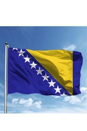 Vatan Bayrak Bosna Hersek Bayrağı 50x75 Cm Raşel Kumaş Çift Taraflı