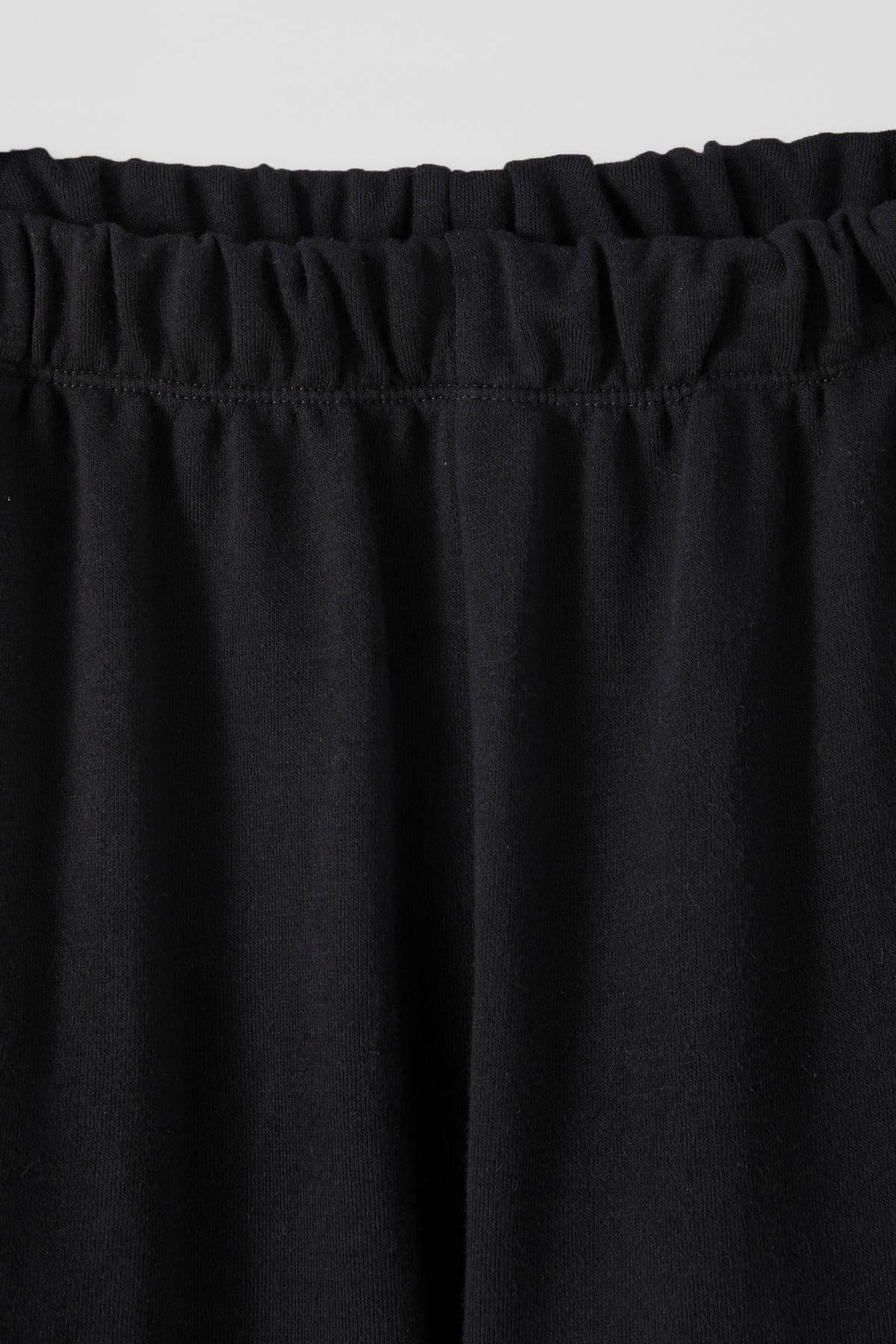 Pull & Bear Kadın Siyah Elastik Paçalı Jogging Fit Pantolon 09672315 2