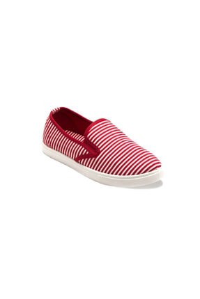 Prive Kadın Kırmızı Çizgili Casual Ayakkabı