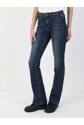 Colin's 791 Monica Normal Kesim Normal Bel Süper Dar Paça Kadın Lacivert Jean Pantolon