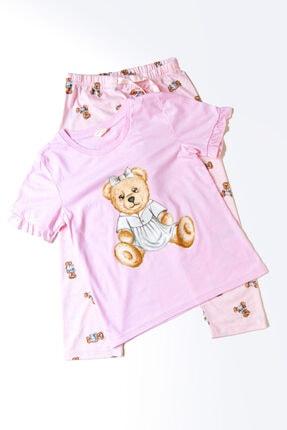 Katia&Bony Teddy Bear Kız Çocuk Pijama Takım - Pembe