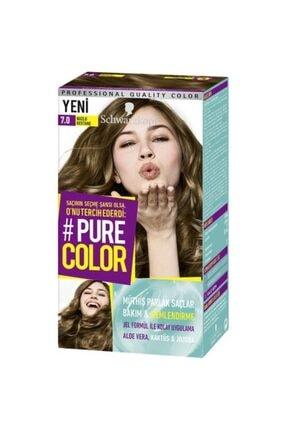 SCHWARZKOPF HAIR MASCARA Pure Color 7-0 Buzlu Kestane