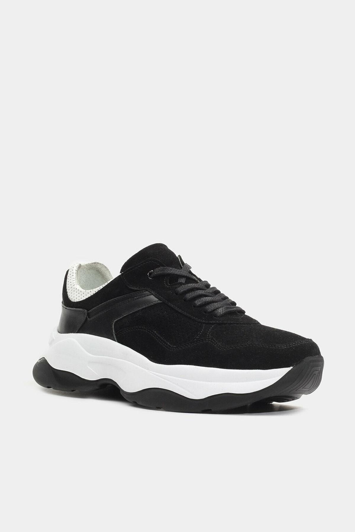 Hotiç Hakiki Deri Siyah Erkek Günlük Ayakkabı 2