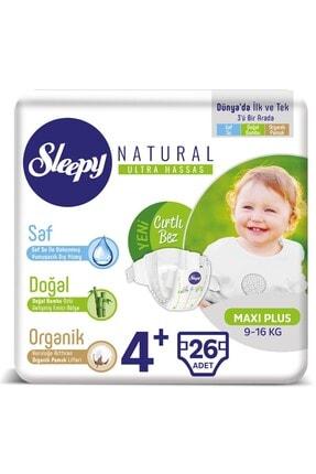 Sleepy Natural Bebek Bezi 4+ Beden Maxi Plus 26 Adet 9-16 kg