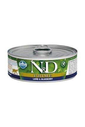 N&D Kuzulu ve Yaban Mersinli Tahılsız Yetişkin Kedi Konservesi 80 gr