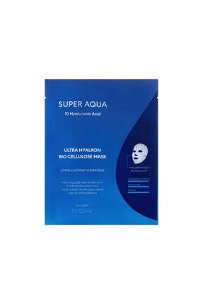 Missha 10 Çeşit Hyalüronik Asit İçeren Nemlendirici Maske 25 ml Super Aqua Ultra Hyalron Bio Cellulose Mask