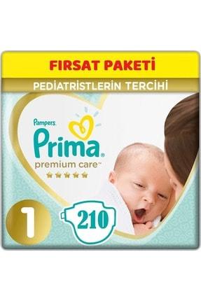 Prima Premium Care Bebek Bezi Beden:1 (2-5Kg) Yeni Doğan 210 Adet Fırsat Pk