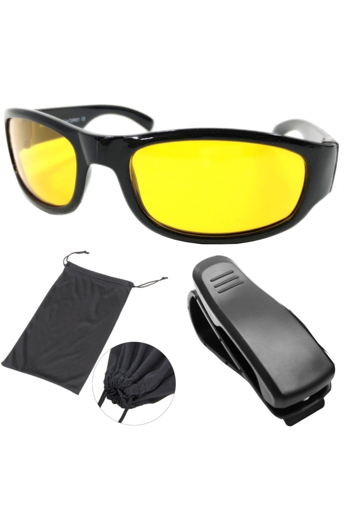 ModaCar Gece Sürüş ve Sis Gözlüğü + Gözlük Tutucu Hediyeli 422253 1