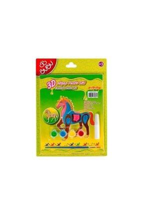 Bubu 3D Ahşap Puzzle+Boyama Seti (At) Bbap0010 /