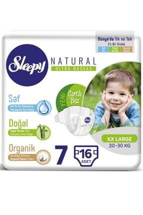 Sleepy Unisex Bebek Natural Bezi 7 Beden 16 Adet