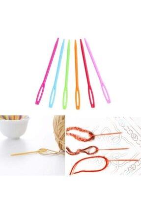 Zedhobi 20 Adet 6 Renk 7 cm Boyutlarında Karışık Plastik Yün İğne,İğnesi,Çocuklar İçin Eğitici İğne