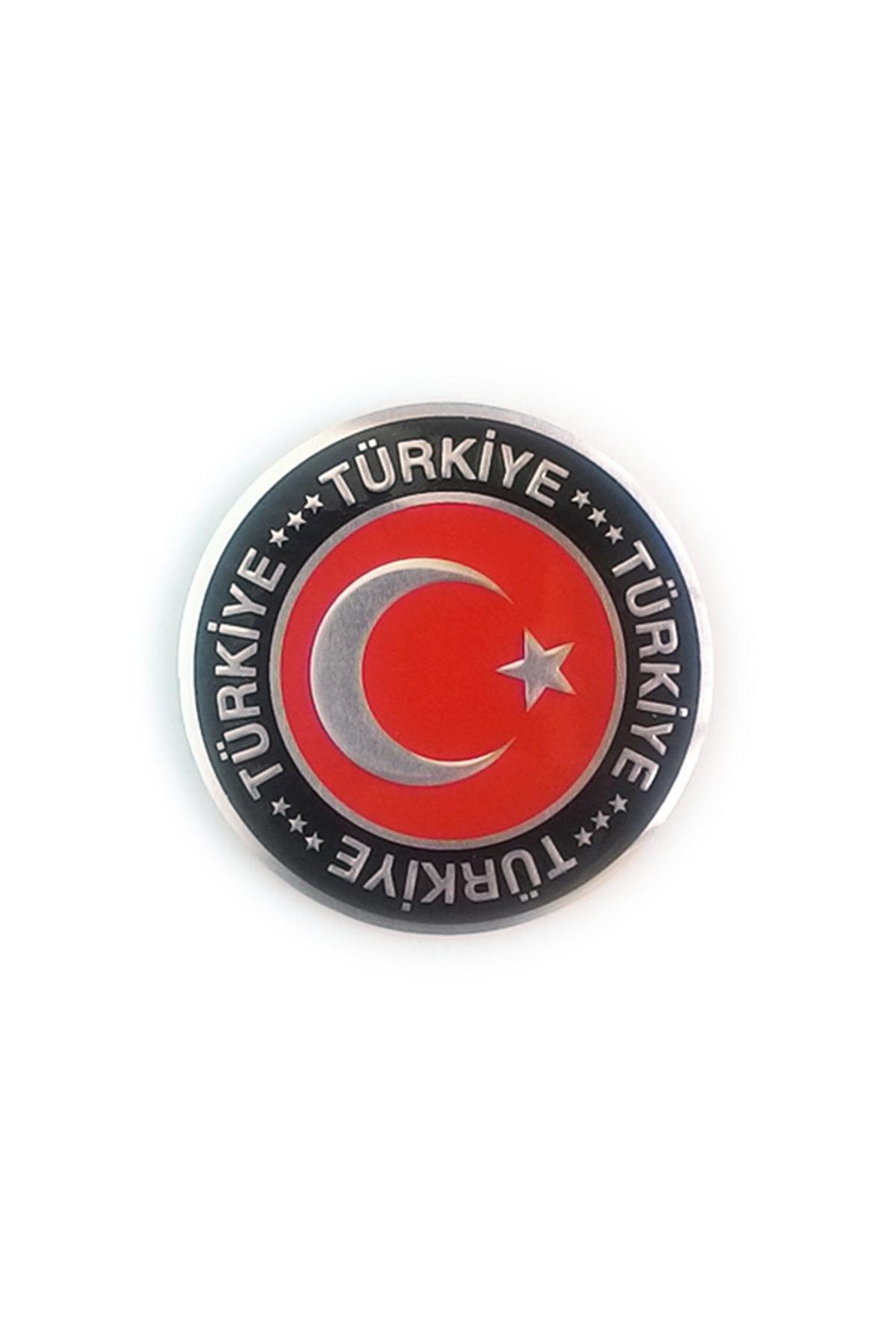 Otografik OTOGRAFİK Ay Yıldız Yuvarlak Metalize Türkiye Arma 1