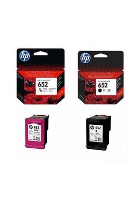 HP 652 Siyah ve Renkli Kartuş Seti (F6V24AE, F6V25AE)