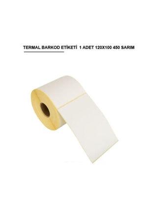 Kargo Ambalaj Termal Barkod Etiketi 120x100 / 450 Sarım 1 Rulo