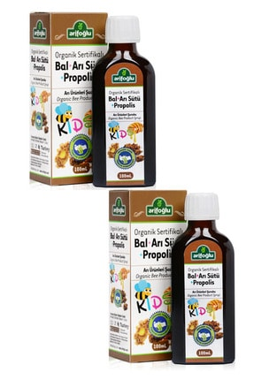 Arifoğlu Organik Bal Arı Sütü Propolis For Kids 100 ml 2 Li Set