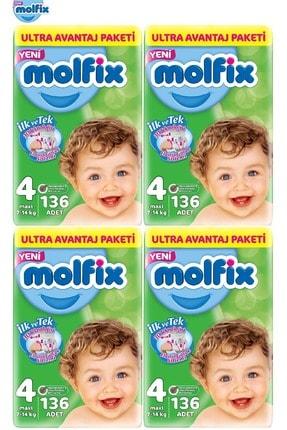 Molfix Bebek Bezi Ultra Avantaj 4 Beden Maxi 544 Adet 4'lü Set
