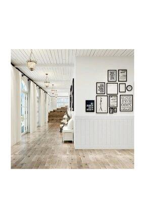 Renkli Duvarlar NW43 Kendinden Yapışkanlı  Beyaz Ahşap Kendinden Yapışkanlı Esnek Duvar Paneli 70x70 cm 1 Adet 8,5mm