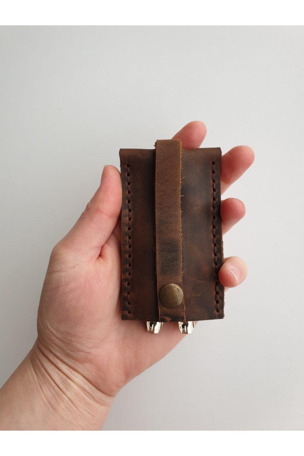 Lft Leather Craft El Yapımı Hakiki Deri Anahtarlık Cave Tarçın 2