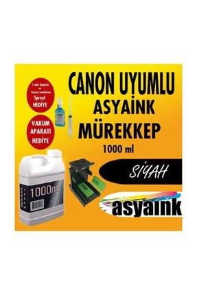 Asyaink CANON E414,E404,E474,E484 Uyumlu Siyah Mürekkep 1000ml