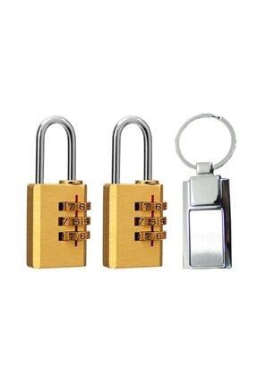 MasterCare Martech 2 ADET 3 Şifreli Asma Kilit Anahtarlık HEDİYELİ 712105