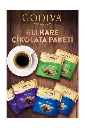 Godiva 6'lı Kare Çikolata Paketi