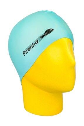 Piranha Silikon Yüzücü Bonesi Havuz Deniz Yüzücü Bone