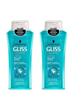 Gliss Million Gloss Yoğun Parlaklık Veren Şampuan 400 ml 2'li