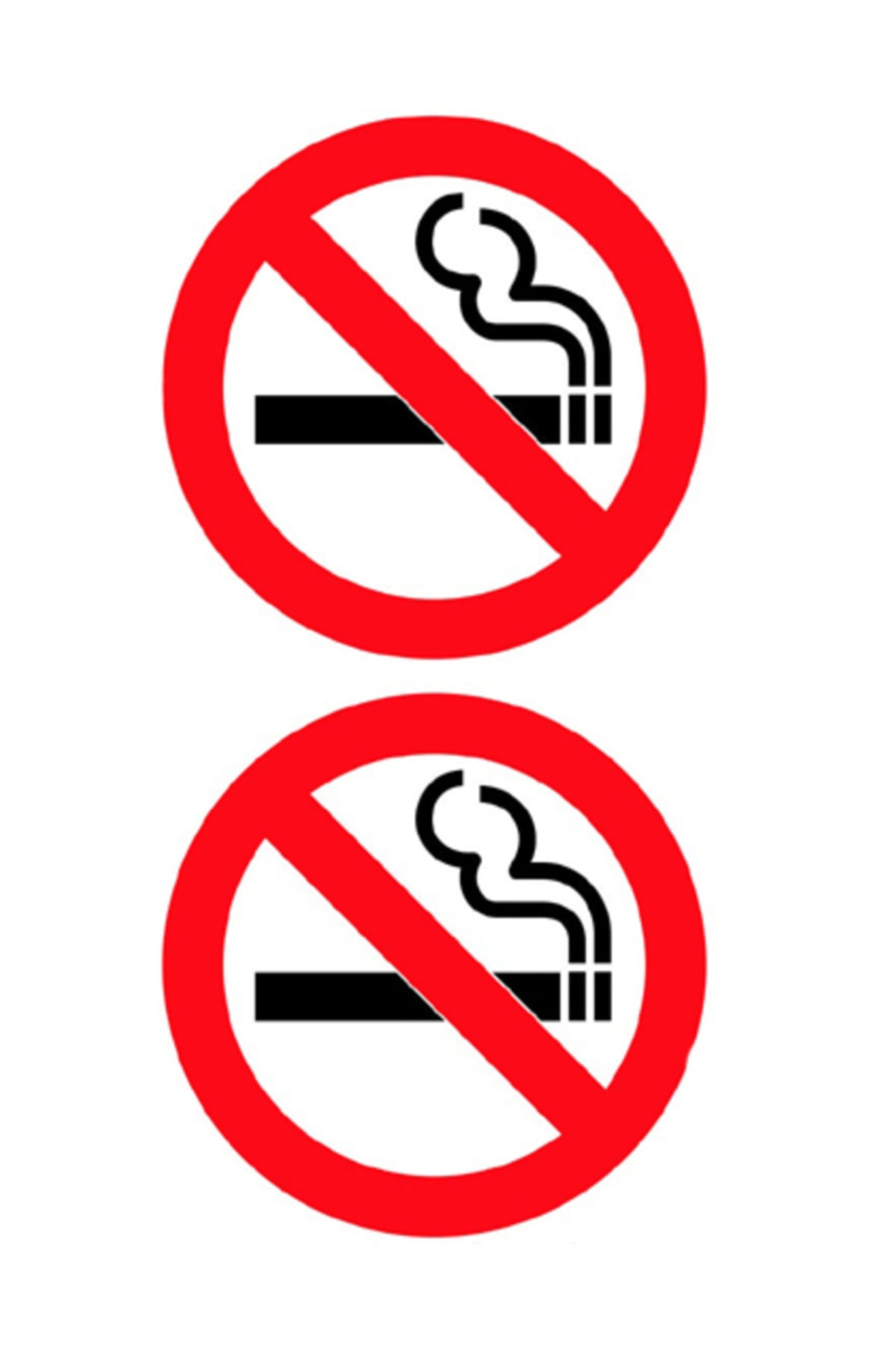 Automix Sigara İçilmez Sticker Damla Çıkartma-Etiket 3D 2 Ad 1