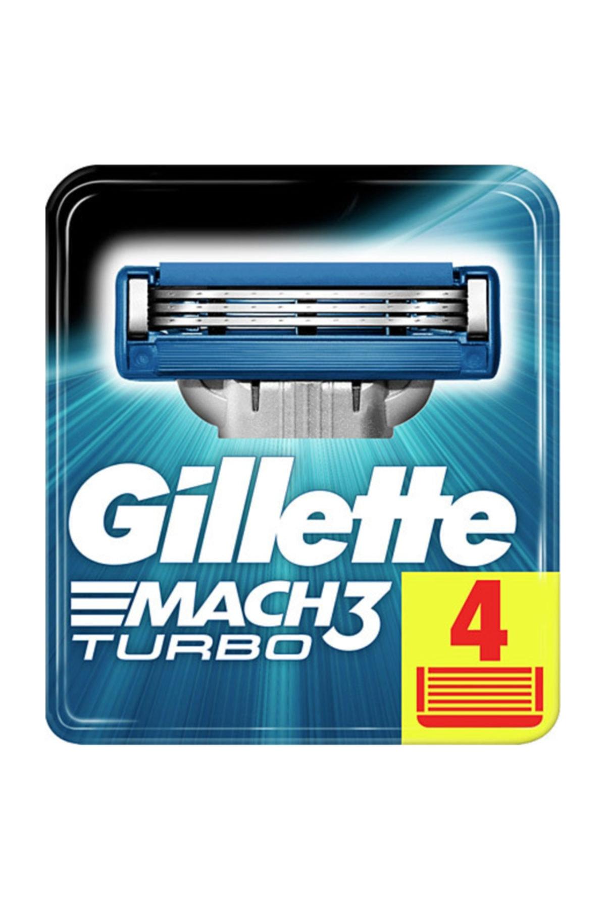 Gillette Mach3 Turbo Yedek Başlık 4'lü 1