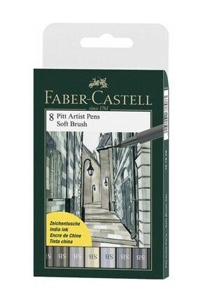 Faber Castell 8 Pitt Artist Pen Fırça Uçlu Çizim Kalemi Soft Brush