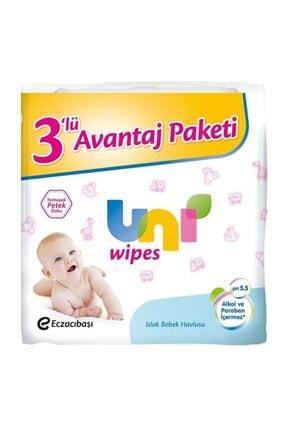 Uni Wipes Uni Baby Wipes 3 lü Islak Havlu Mendil