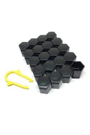 Oto Aksesuarcım Bijon Kapağı Siyah A Kalite 20 Adet 22mm Sökme Aparat Hediyeli
