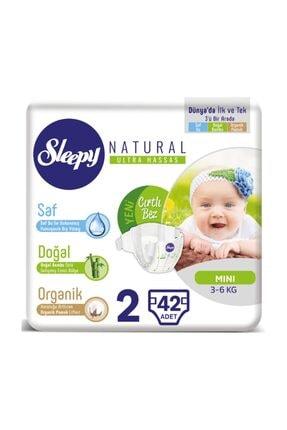 Sleepy Natural Yeni Doğan 2 Numara 42 Adet Bebek Bezi 3-6 kg