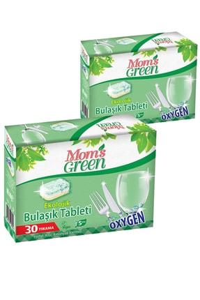 Mom's Green 2'li Set Mom's Green Ekolojik Bulaşık Makinası Tableti 60 Tablet
