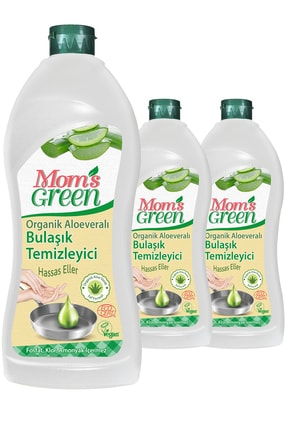 Mom's Green 3'lü Set Mom's Green Bitkisel Elde Bulaşık Deterjanı ALOE VERA - ECO 1 LT