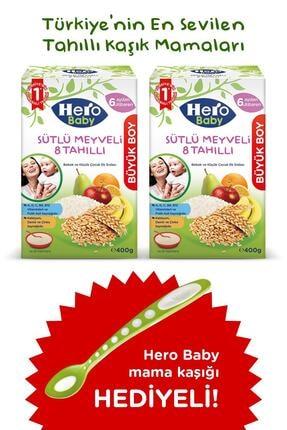 Hero Baby Sütlü Meyveli 8 Tahıllı Kaşık Mama 400g 2 Adet