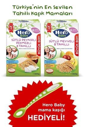 Hero Baby Peynirli Pekmezli ve Meyveli 8 Tahıllı Kaşık Mama 400g