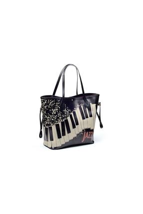 Goby Kadın Özel Tasarım Piyano Baskılı Omuz Çantası