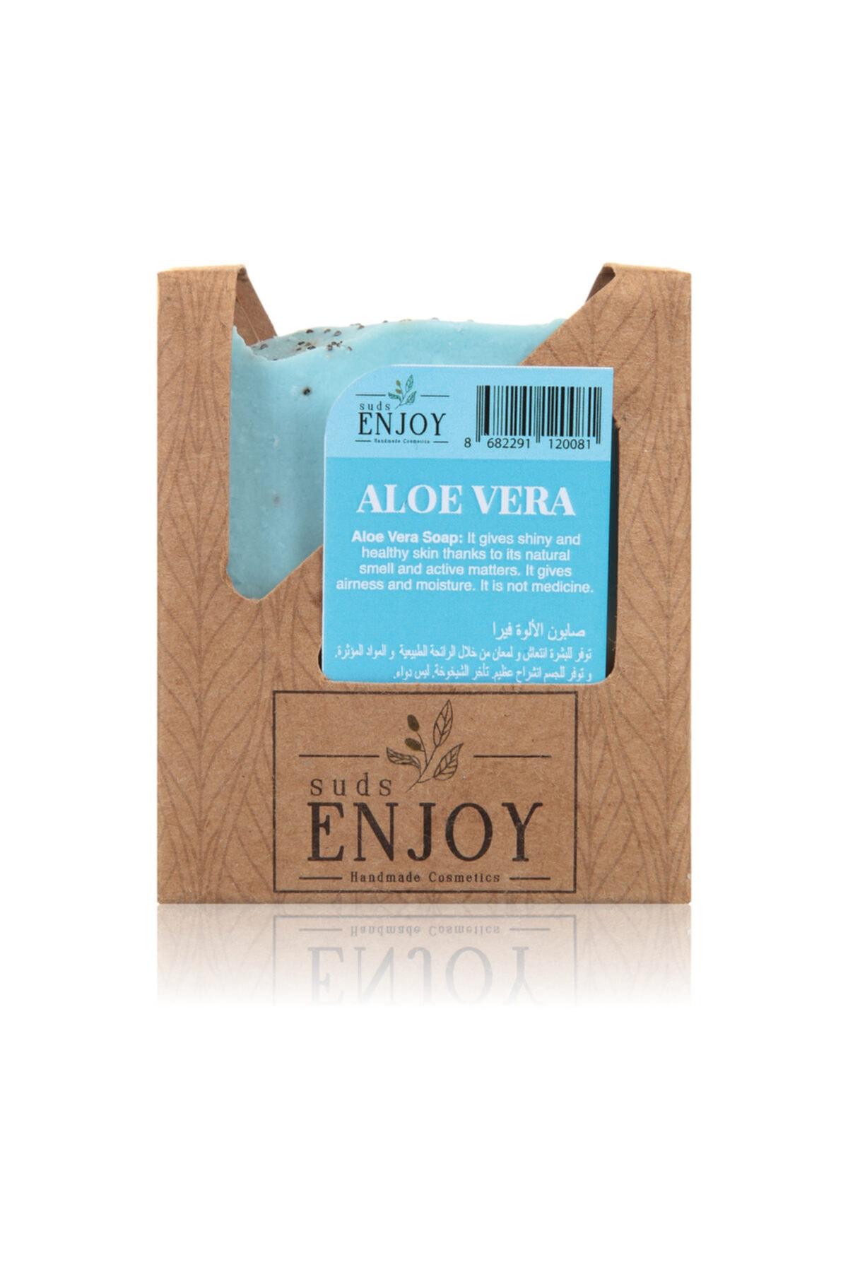 Enjoy Suds Enjoy Doğal Aloe Vera El Yapımı Yaşlanma Karşıtı Sabun 100 gr 2
