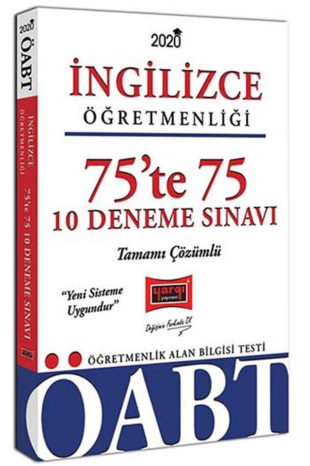 Yargı Yayınları 2020 ÖABT İngilizce Öğretmenliği 75te 75 Tamamı Çözümlü 10 Deneme Sınavı 1