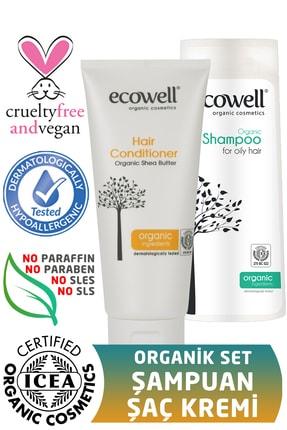 Ecowell Organik Şampuan 300 ml + Saç Kremi 200 ml