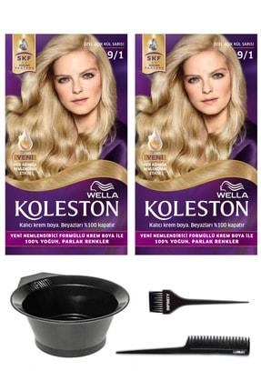 Wella 2'li Koleston 9/1 Kit Boya Özel Açık Kül Sarısı Ve Saç Boyama Seti